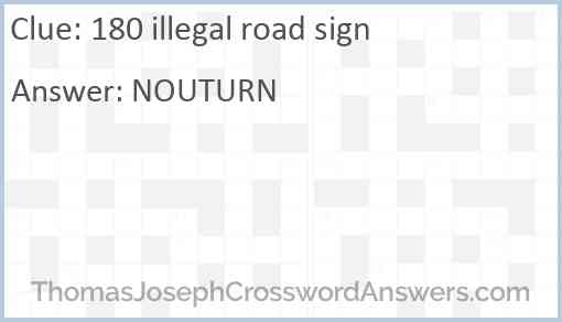 180 illegal road sign Answer