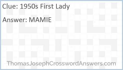 1950s First Lady Answer