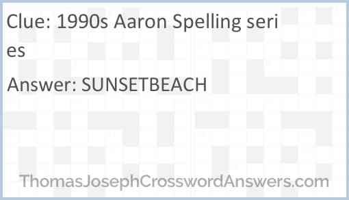 1990s Aaron Spelling series Answer