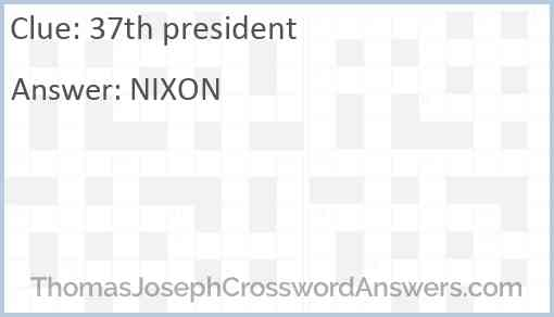37th president Answer