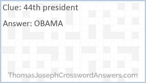 44th president Answer