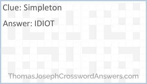 Simpleton Answer