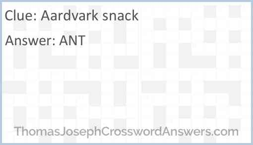 Aardvark snack Answer