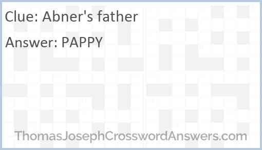 Abner's father Answer