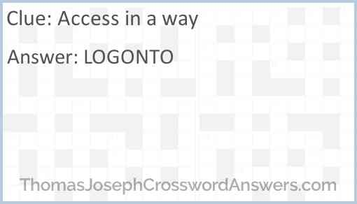 Access in a way Answer
