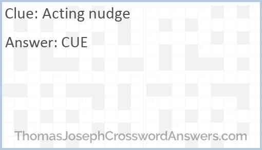 Acting nudge Answer