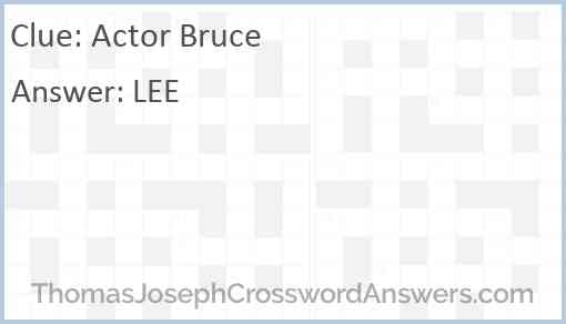 Actor Bruce Answer
