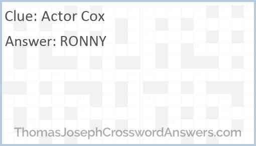 Actor Cox Answer