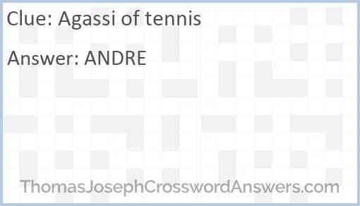 Agassi of tennis Answer
