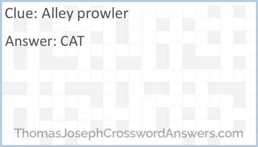 Alley prowler Answer
