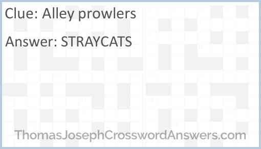 Alley prowlers Answer