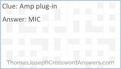 Amp plug-in Answer