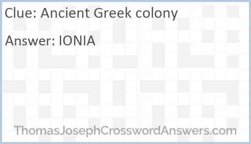 Ancient Greek colony Answer