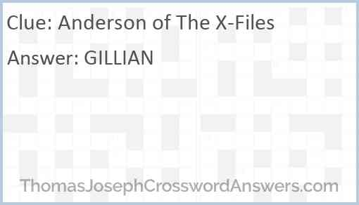 Anderson of The X-Files Answer