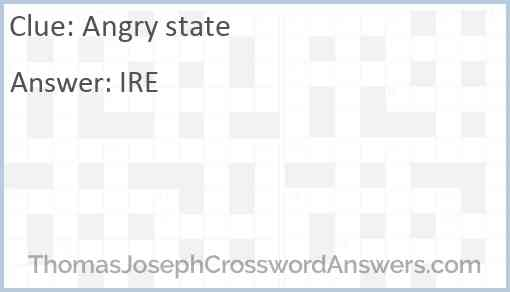 Angry state Answer
