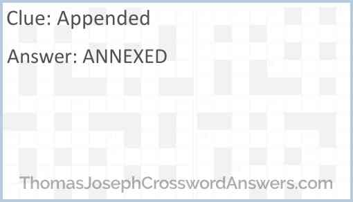 Appended Answer