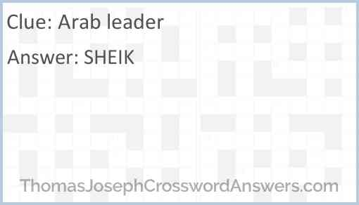 Arab leader Answer