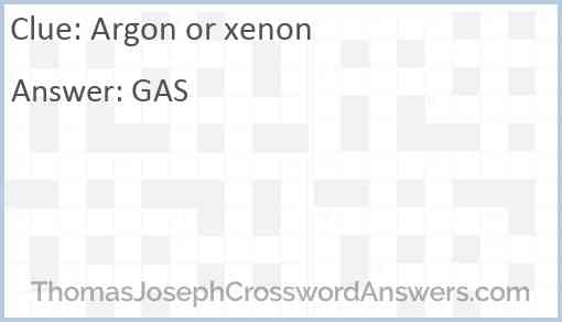 Argon or xenon Answer