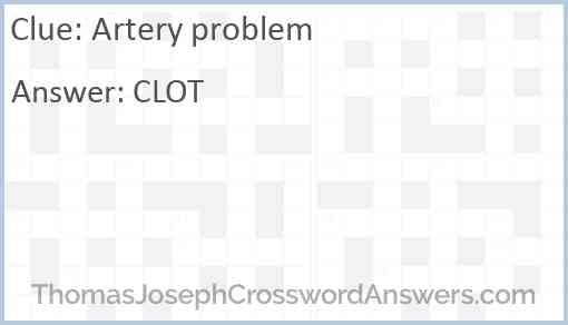 Artery problem Answer