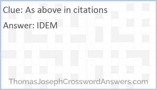 As above in citations Answer