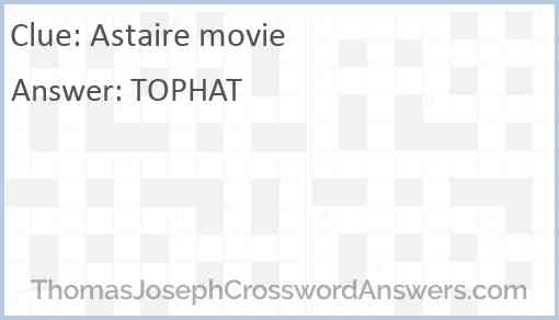Astaire movie Answer