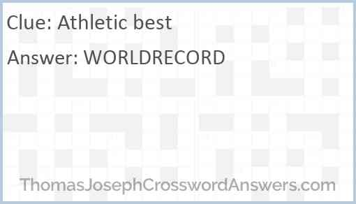 Athletic best Answer
