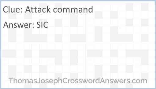 Attack command Answer
