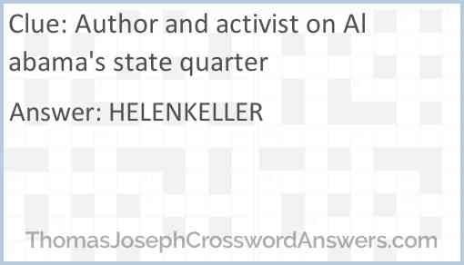 Author and activist on Alabama's state quarter Answer