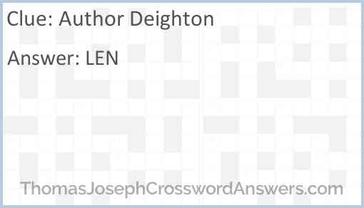 Author Deighton Answer