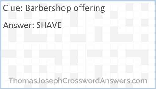 Barbershop offering Answer