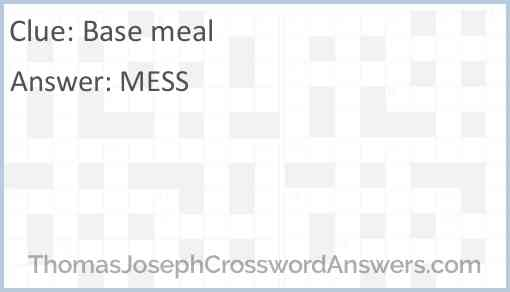 Base meal Answer