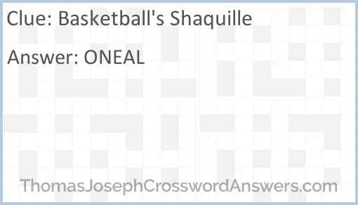 Basketball's Shaquille Answer