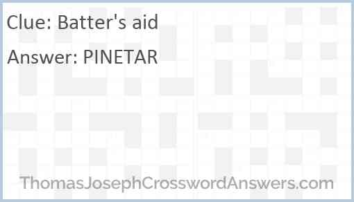 Batter's aid Answer