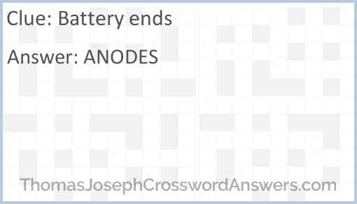 Battery ends Answer