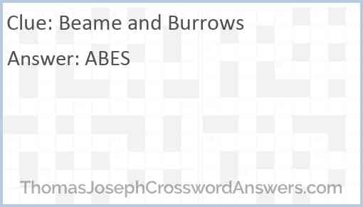 Beame and Burrows Answer