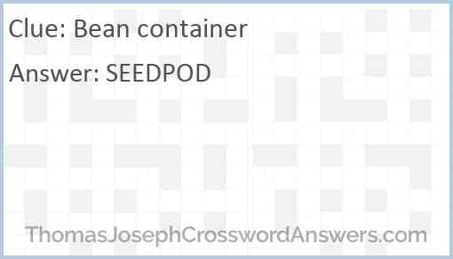 Bean container Answer