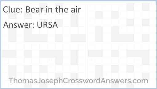 Bear in the air Answer
