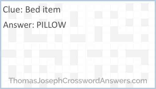 Bed item Answer