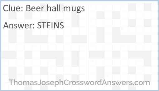 Beer hall mugs Answer