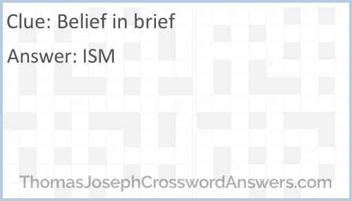 Belief in brief Answer