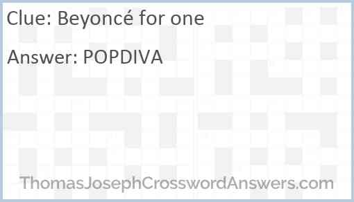 Beyoncé for one Answer
