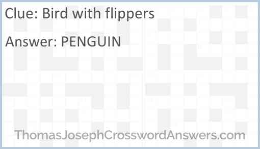 Bird with flippers Answer