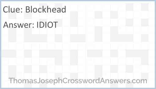 Blockhead Answer