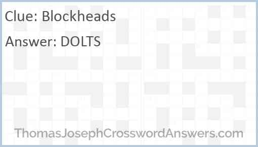 Blockheads Answer