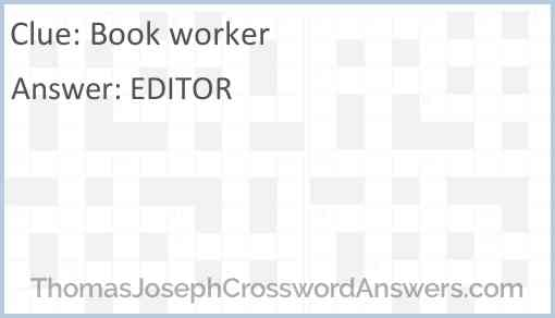 Book worker Answer