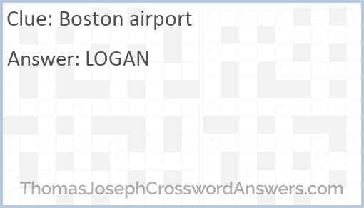 Boston airport Answer