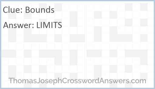 Bounds Answer