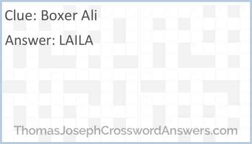 Boxer Ali Answer