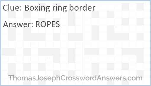 Boxing ring border Answer
