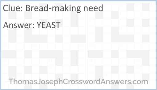 Bread-making need Answer
